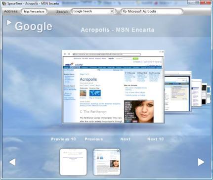SpaceTime Browser